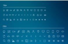 IOS 7 Style Line Icons Set PSD