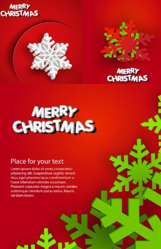 Colored Christmas Snowflake Background Vector