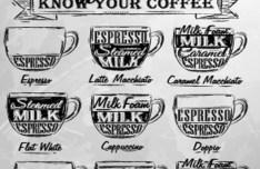 Hand Drawn Coffee Menu Design Vector
