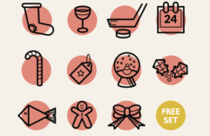 11 Lovely Christmas Icons Vector