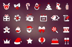 28 Christmas Icons PSD