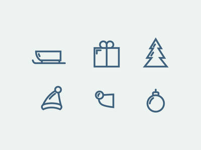 Clean Xmas Icon Set PSD