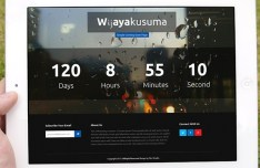 Wijayakusuma Coming Soon Page Template PSD & HTML