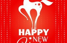 Happy New Year 2014 Horse Design Vector 04