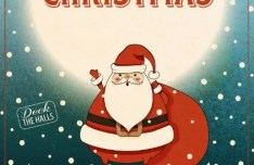 Retro Vintage Christmas & Happy New Year Poster Vector 02
