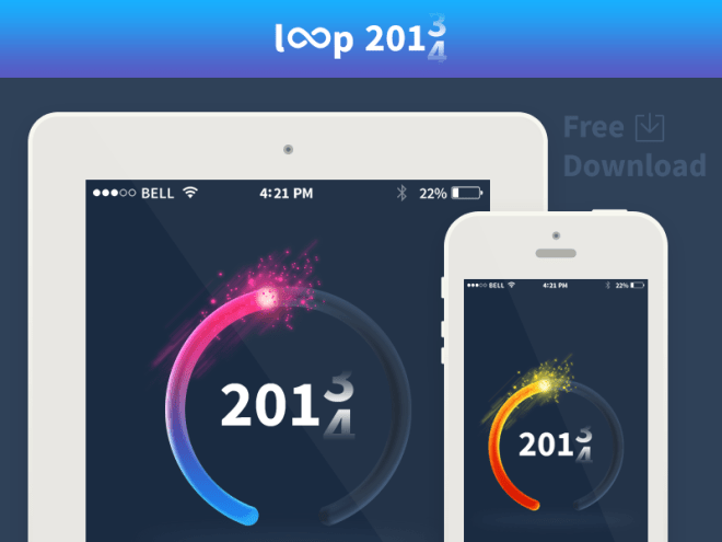 2014 New Year Countdown Timer PSD