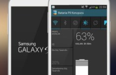 White Samsung Galaxy S4 Flat Mockup PSD