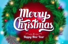 Elegant Christmas & New Year Garland & Wreath Vector
