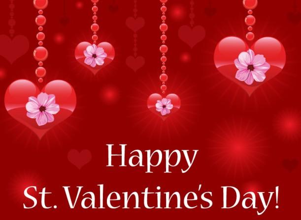 Shining Valentine's Day Love Hearts Vector