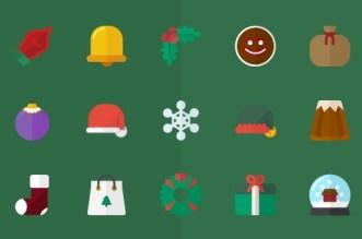 15 Flat Vector Christmas Icons