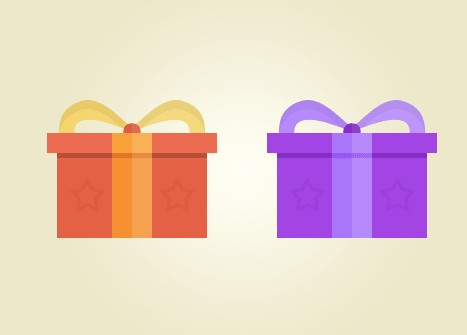 Flat Gift Icons PSD