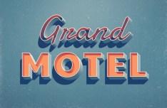 Grand Motel Text Effect PSD