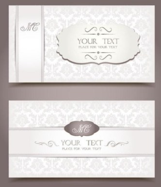 Vintage Light Pink Invitation Cards Vector