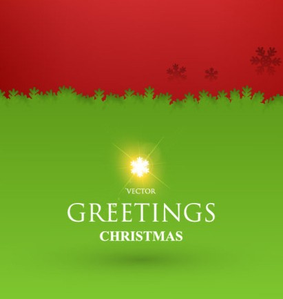 Red and Green Christmas Greeting Card Cover Template PSD