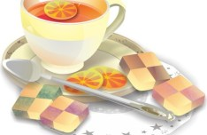 Afternoon Tea Vector Illustration