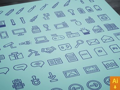 70 Pictograms Vector