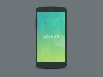 Flat Black Nexus 5 Mockup PSD