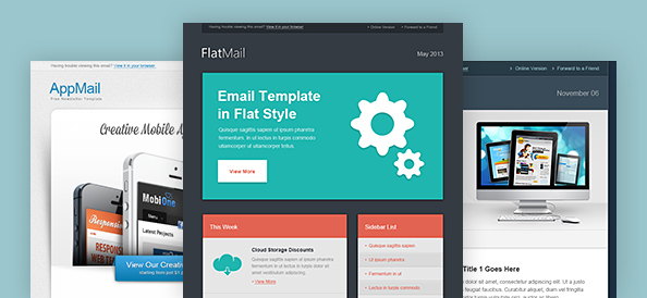 Free 3 Newsletter & Email Templates PSD - TitanUI