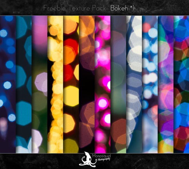 Colorful Bokeh Textures Pack