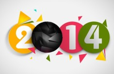 Creative New Year 2014 Design Vector 05