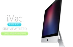 iMac Side View Mockup PSD
