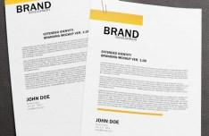 Brand Letterhead Mockup PSD