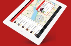 Around Me iPad with iOS 7 App Design Template PSD
