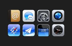 Glossy Metal iOS Icons PSD