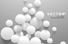 3D White Dots Background Vector