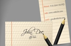 Creative Corporate Business Card Design Vector 02