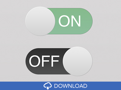 Flat Toggle Style Switch Buttons PSD