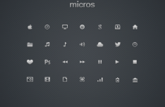 Minimal Pictogram Icons Pack PSD