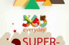 365 Everyday Super Market Brochure Cover Vector