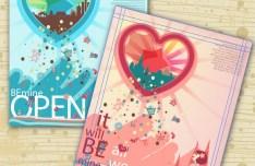 Cute Picture Album Cover Design Vector