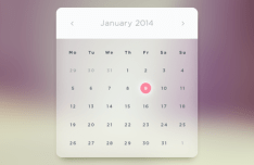 Glass Calendar Widget PSD