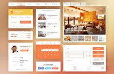 Real Estate & Booking UI Kit PSD