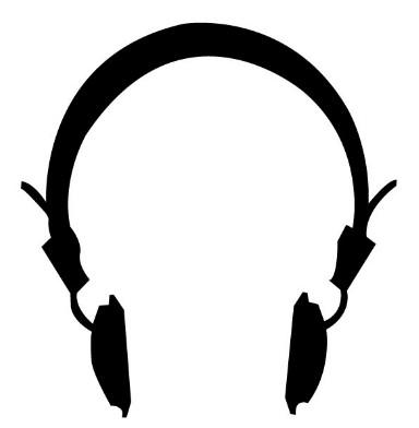 Simple Headphones Silhouette Vector