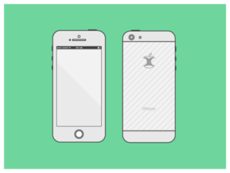 iPhone 5 Template Vector