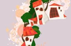 Vector Illustration Of Cartoon Natural Scenery 03