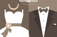 Romantic Wedding Invitation Design Vector