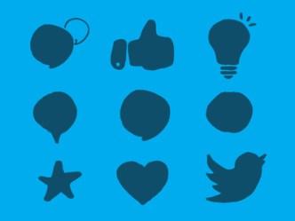 9 Random Hand Drawn Icons Vector