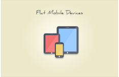 Flat Mobile Devices PSD