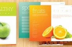 Fresh Clean Brochure Template Set PSD