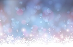 White Snowflakes with Blurred Lights Vector