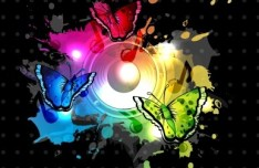 Cool Symphony Vector Background 02