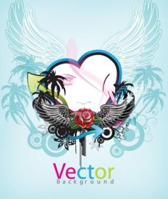 Music Art Grunge Background Vector 03