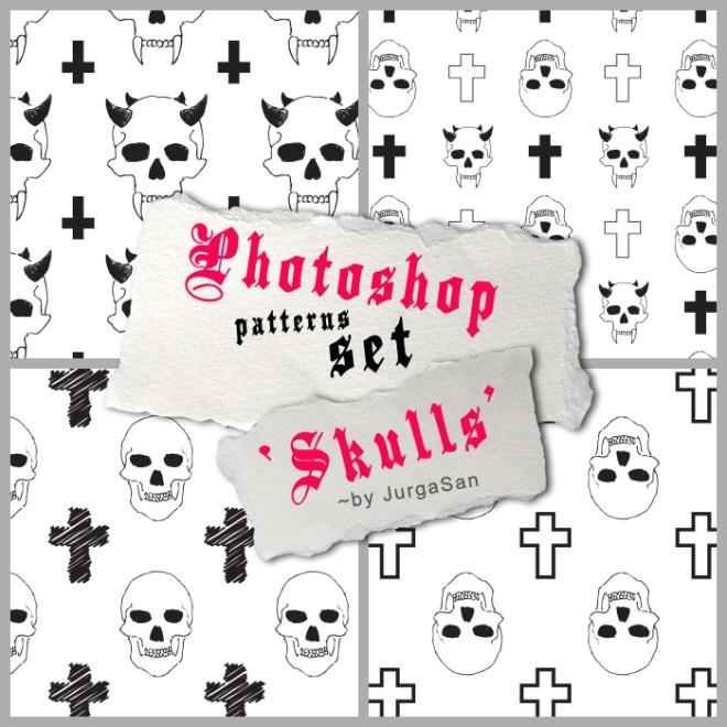 Skull Pattern Set Photoshop Pattern
