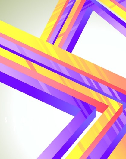 3D Colorful Geometric Lines Vector Background 01