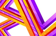 3D Colorful Geometric Lines Vector Background 02