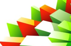 3D Colorful Geometric Lines Vector Background 03